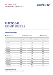 GREMCO Fitco®seal crimp connector data sheet