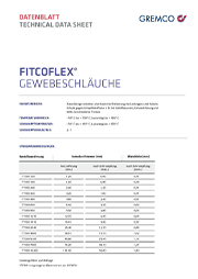 GREMCO Fitcoflex® Gewebeschläuche Datenblatt