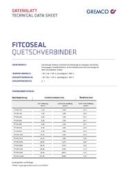 GREMCO Fitco®seal Quetschverbinder Datenblatt